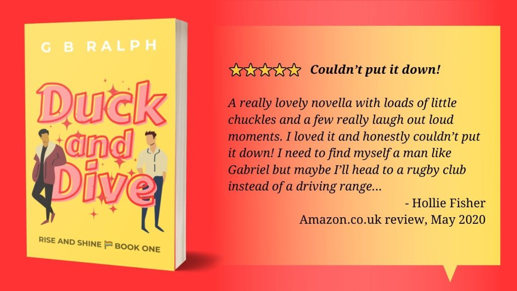 5 stars. Couldn't put it down! A really lovely novella with loads of little chuckles and a few really laugh out loud moments. I loved it and honestly couldn't put it down! I need to find myself a man like Gabriel but maybe I'll head to a rugby club instead of a driving range... Hollie Fisher, Amazon.co.uk review, May 2020