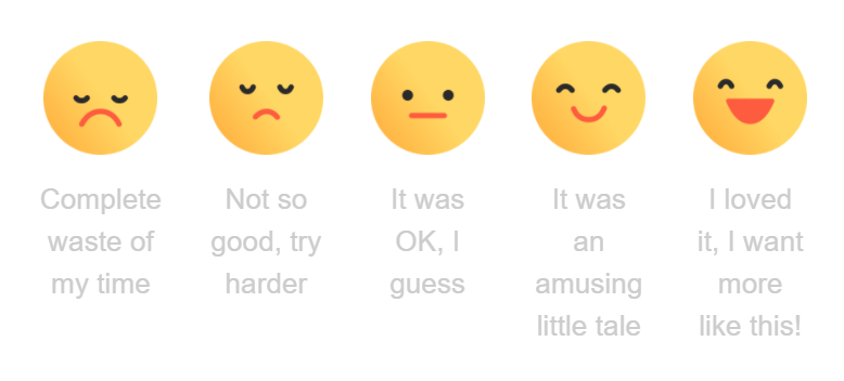 Story feedback voting option emojis