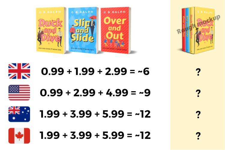 Cost comparison for individual books vs box set